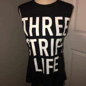 NWT Adidas Three Stripe Life Muscle Tank Top